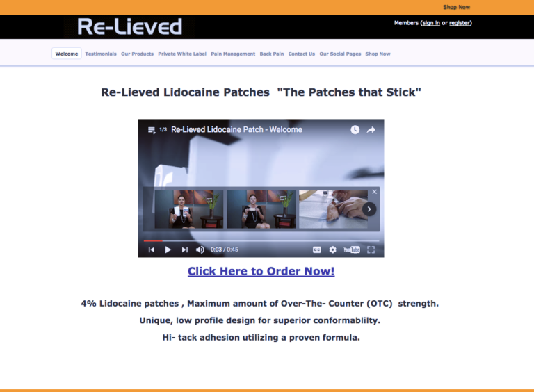 Re-Lieved Lidocaine Patches